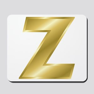 Gold Letter Z Mousepad