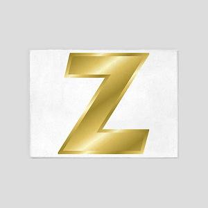 Gold Letter Z 5'x7'Area Rug