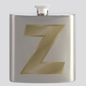 Gold Letter Z Flask
