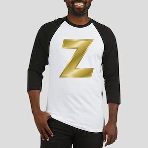 Gold Letter Z Baseball Jersey