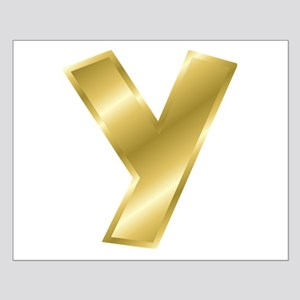 Gold Letter Y Posters
