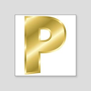 Gold Letter P Sticker