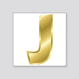 Gold Letter J Sticker
