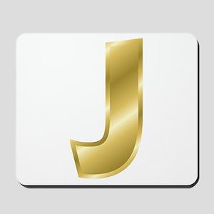 Gold Letter J Mousepad