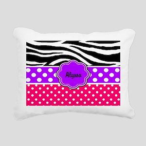 Pink Purple Zebra Personalized Rectangular Canvas