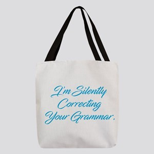 Silently Correcting Grammar Polyester Tote Bag