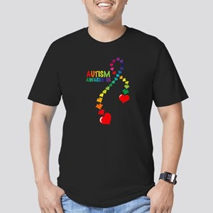Autism Puzzle Ribbon Men's Fitted T-Shirt (dark)
