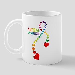 Autism Puzzle Ribbon Mug