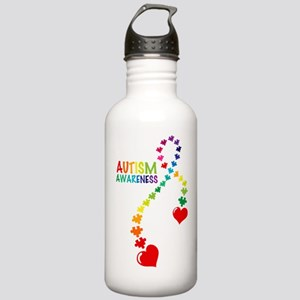 Autism Puzzle Ribbon Stainless Water Bottle 1.0L