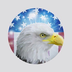 America eagle flag  Round Ornament