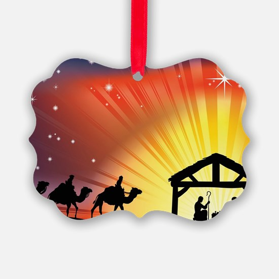 Christian Nativity Scene Ornament