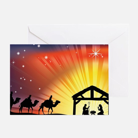 Christian Nativity Scene Greeting Card