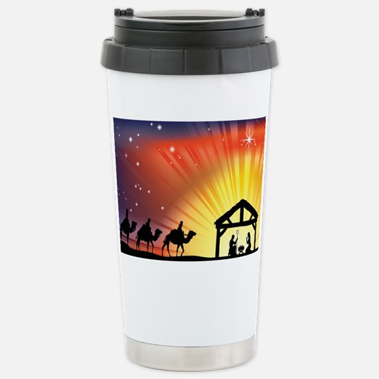 Christian Nativity Scen Stainless Steel Travel Mug
