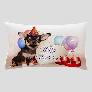 Happy Birthday Chihuahua dog Pillow Case