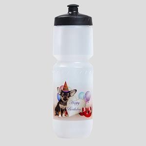 Happy Birthday Chihuahua dog Sports Bottle