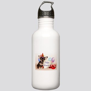 Happy Birthday Chihuahua dog Water Bottle