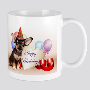 Happy Birthday Chihuahua dog Mugs