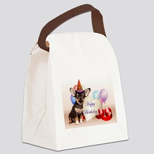 Happy Birthday Chihuahua dog Canvas Lunch Bag