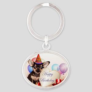 Happy Birthday Chihuahua dog Keychains