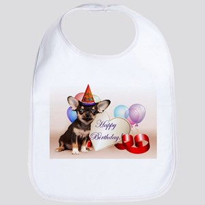 Happy Birthday Chihuahua dog Bib