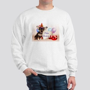 Happy Birthday Chihuahua dog Sweatshirt