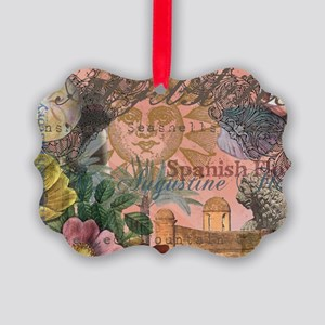St. Augustine Florida Vintage Collage Ornament