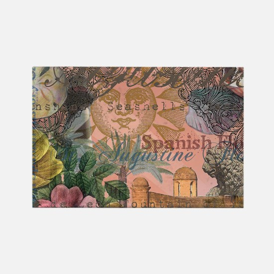 St. Augustine Florida Vintage Collage Magnets