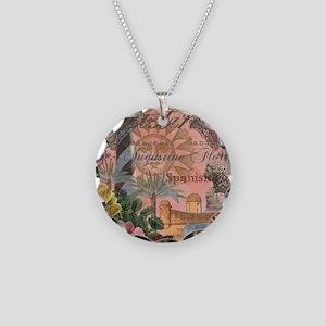St. Augustine Florida Vintage Collage Necklace