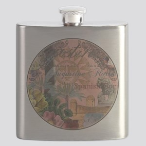St. Augustine Florida Vintage Collage Flask