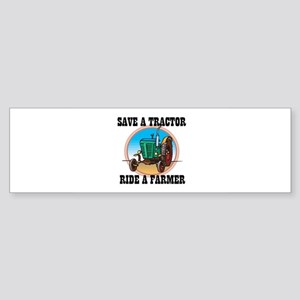 Save a Tractor Bumper Sticker