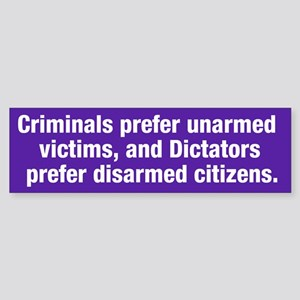 Criminals & Dictators Bumper Sticker