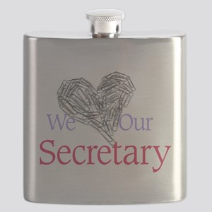 We Love Our Secretary Flask