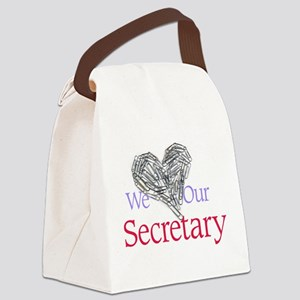 We Love Our Secretary Canvas Lunch Bag