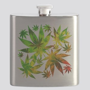 Marijuana Cannabis Leaves Pattern Flask