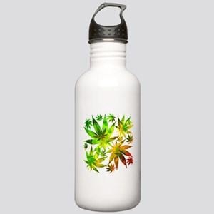Marijuana Cannabis Leaves Pattern Water Bottle