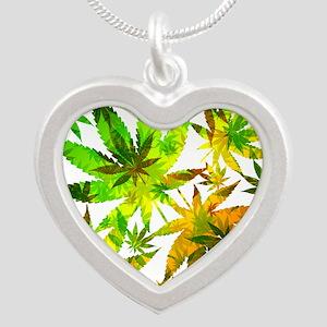 Marijuana Cannabis Leaves Pattern Necklaces