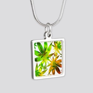 Marijuana Cannabis Leaves Pattern Necklaces