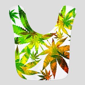 Marijuana Cannabis Leaves Pattern Bib