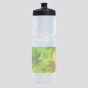Marijuana Cannabis Leaves Pattern Sports Bottle