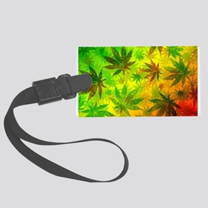 Marijuana Cannabis Leaves Pattern Luggage Tag