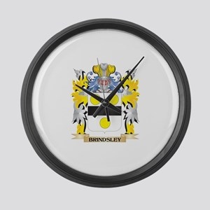 Brindsley Coat of Arms - Family C Large Wall Clock