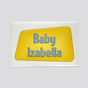 Baby Izabella Rectangle Magnet