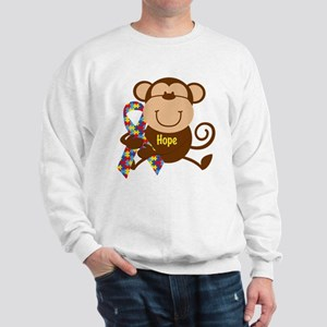 Monkey Autism Hope Sweatshirt