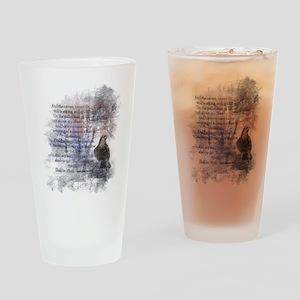 The Raven Edgar Allen Poe Poem Drinking Glass