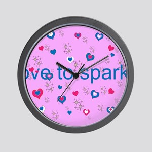 Cute Pink LOVE TO SPARKLE! Wall Clock