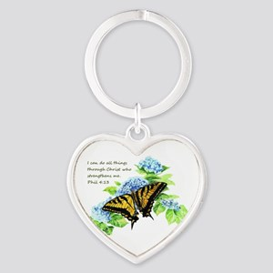 Motivational Scripture Butterfly Keychains