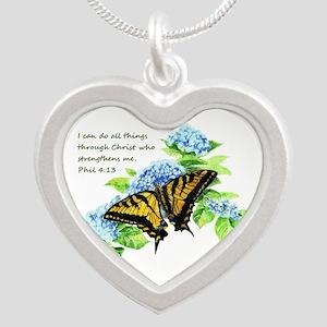 Motivational Scripture Butterfly Necklaces