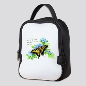 Motivational Scripture Neoprene Lunch Bag