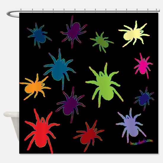 Colorful Spiders Shower Curtain