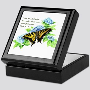 Motivational Scripture Butterfly Keepsake Box